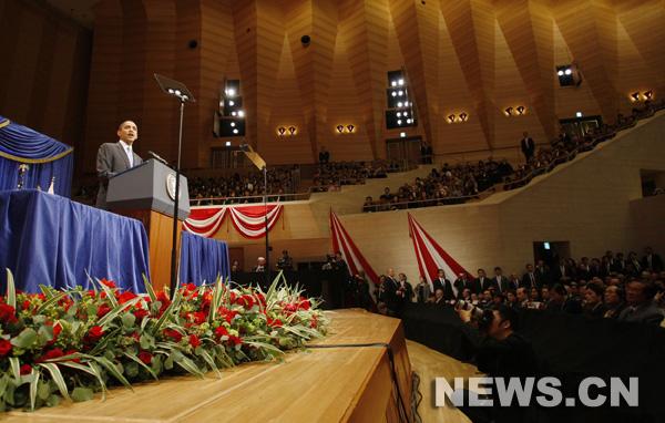 Le président américain Barack Obama a déclaré samedi àTokyo qu'une Chine forte et prospère peut être une source de prospérité pour tous les pays et que les Etats-Unis ne voulent pas contenir la Chine.