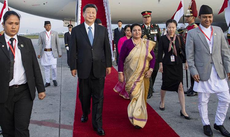 Le président chinois Xi Jinping arrive au Népal pour une visite d'Etat