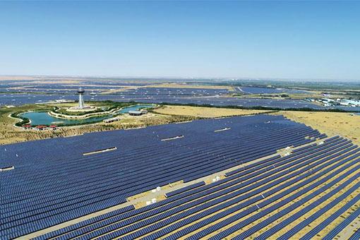 Chine : parc industriel photovoltaïque dans le nord-ouest