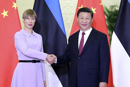 Xi Jinping rencontre la présidente estonienne