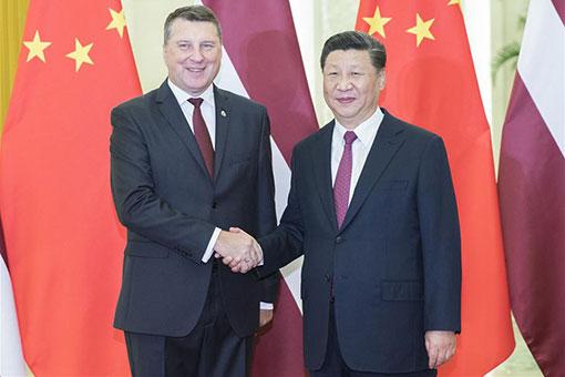 Xi Jinping rencontre le président letton